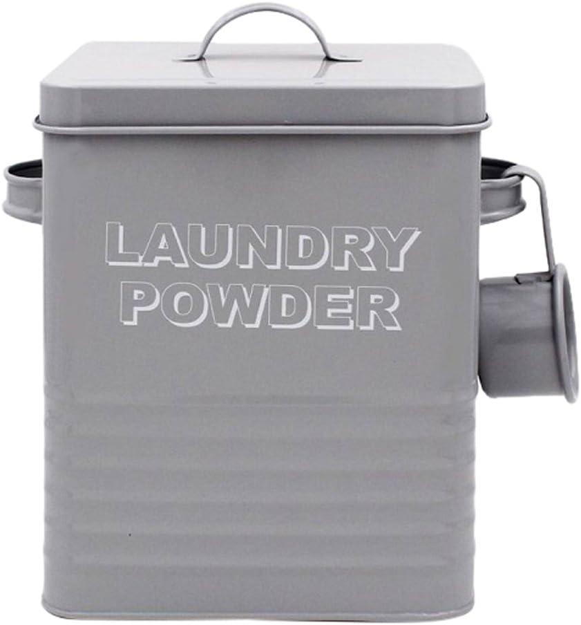 H25cm Lesser /& Pavey Sweet Home Laundry Powder Tin-Sage
