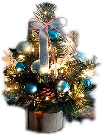 Mini Árbol De Navidad, Árbol De Navidad De Mesa con Luces LED, Decoración De Escritorio Decoraciones De Navidad,Blue: Amazon.es: Hogar