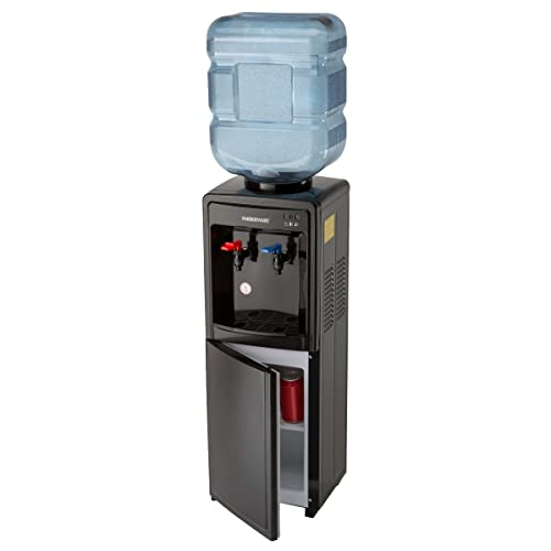 Farberware FW29919 Freestanding Hot and Cold Water Cooler Dispenser, Black