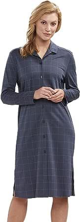 Féraud 3883159 Women's High Class Plaid Cotton Sleep Shirt Nighty Nightshirt