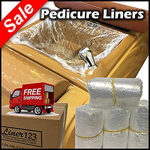 1,000 Pcs. [5 Boxes] Pedicure Liners for Spa Nail Salon Beauty Massage Foot Feet Soft Plastic with High Quality Elastic Band [$0.20 Each]