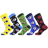 Men's Funny Dress Socks,Fun Colorful Socks,Crazy Novelty Funky Cool Cute Design Printed Crew Socks,Casual Socks