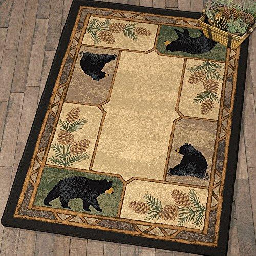 Mellow Mornings Black Bear Rug - 3 x 4 ()