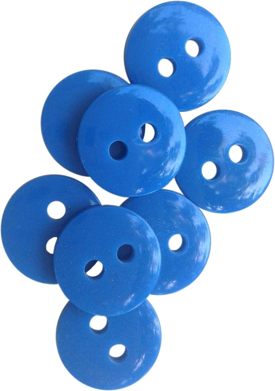 Ceramic Buttons Handmade ~ Handmade Buttons ~ Blue Buttons ~ Buttons Sewing ~ Round Buttons ~ Large Blue Buttons~Craft buttons~3019