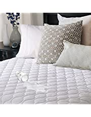 Sunbeam Heated Mattress Pad with Water Guard Protection, Twin Size MSU6STS-T000-12B50, White