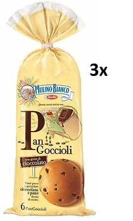 18 X Mulino Bianco Tarta Pan goccioli Pan con chocolate briosche 756 gr Galletas