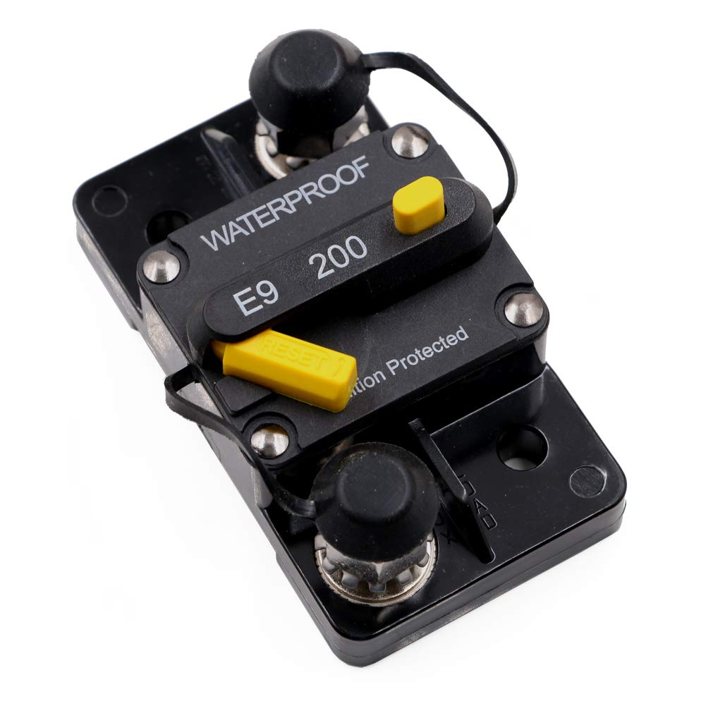 200 Amp Surface-Mount Circuit Breakers with Manual Reset, 12V- 48V DC, Waterproof