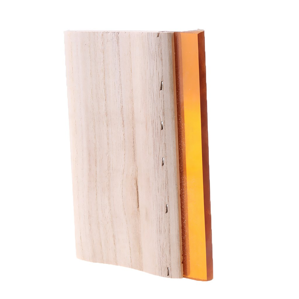Gazechimp Serigraf/ía Madera Escobilla de Goma Mango Raspador Herramientas de jardiner/ía Casa Manual 15 cm 70 /°