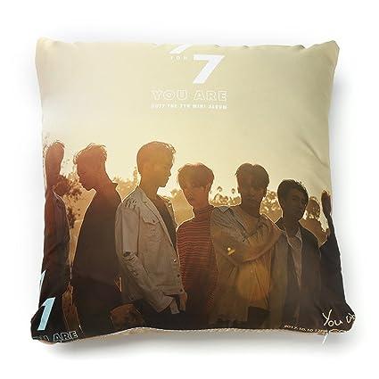 Cojín de BTS (Bangtanboys) de Grapes Garden, de algodón, con impresión digital en 3D, para sofá, coche o dormitorio, 40 cm x 40 cm, algodón, H01, 40 x ...