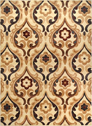 Elegant and Classic Design | Catalina Area Rug by Home Dynamix, HD4902-100, Ivory| Sumptuous Fabric, Soft, Comfy and Durable | Fade and Stain Resistant, Easy to Clean and Care - Rug Catalina Floral