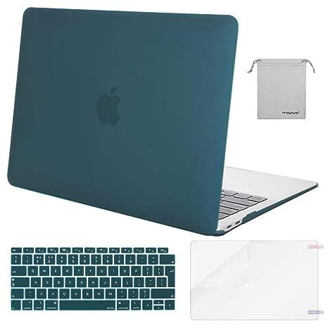 MOSISO Funda Dura Compatible 2018 MacBook Air 13 A1932 con Pantalla Retina & Touch ID, Carcasa Rígida de Plástico & Piel de Teclado & Protector de ...