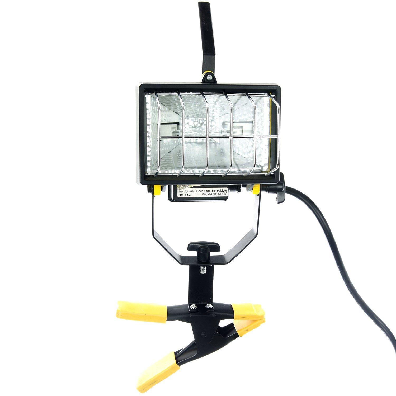 Sunlite 04371-SU QF150 150-watt Q150/T3 Clamp On Halogen Work Lamp