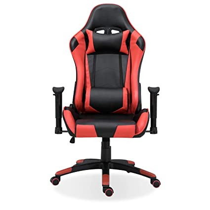 Samincom High Back Large Size PU Leather Gaming Chair Racing Style Chair Office Chair Executive and Ergonomic Style Swivel Chair with Extra Soft ...