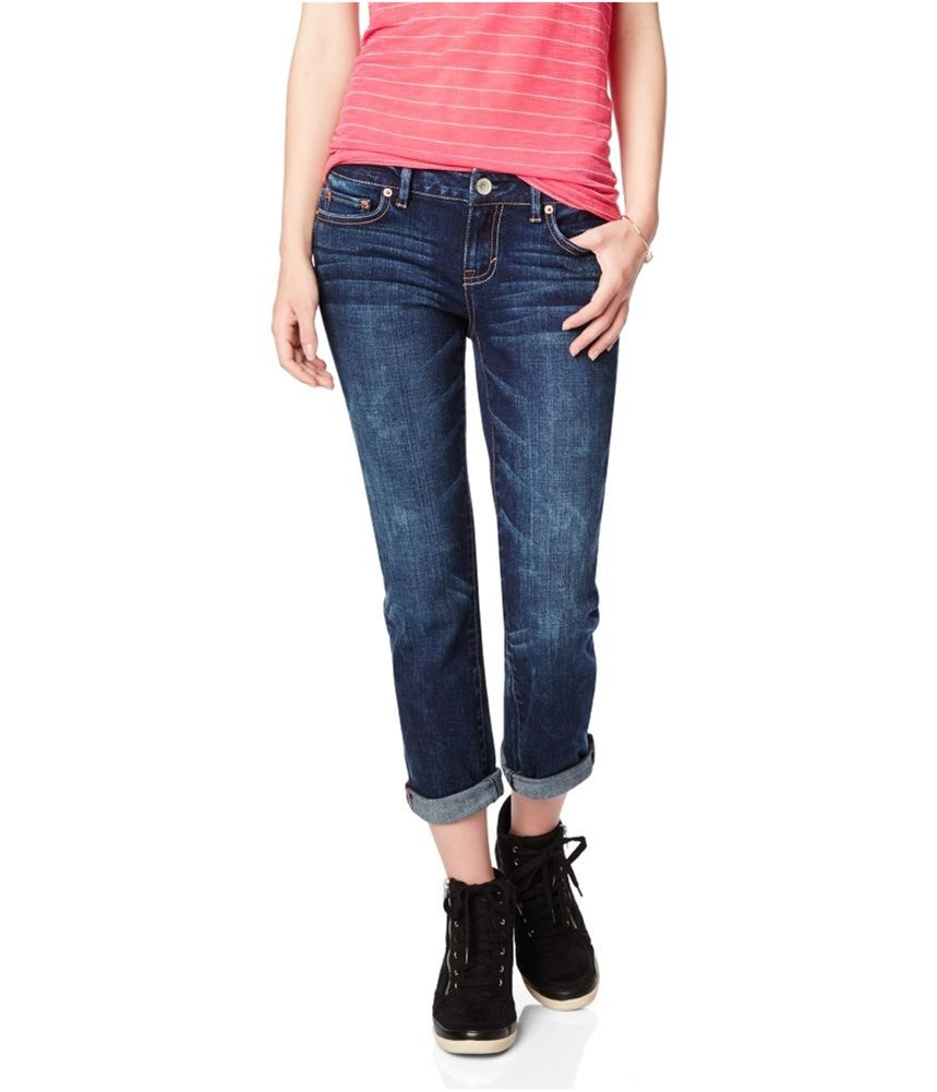 Aeropostale Womens Bayla Skinny Fit Jeans Blue 000x24 - Juniors