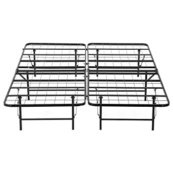 langria 14 inch king size foldable metal bed frame bed foundation box spring replacement with 1000