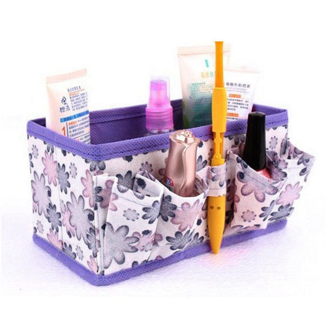Serzul Makeup Cosmetic Storage Bag Bright Organiser Foldable Stationary Container (E)