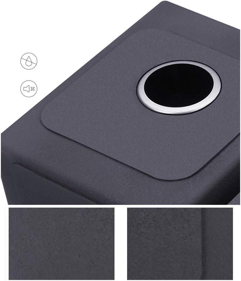 BASIN Cuisine Noir /Évier Bol Acier Inoxydable Avec Eau Du Robinet 520mm X 430mm ZYXPP227