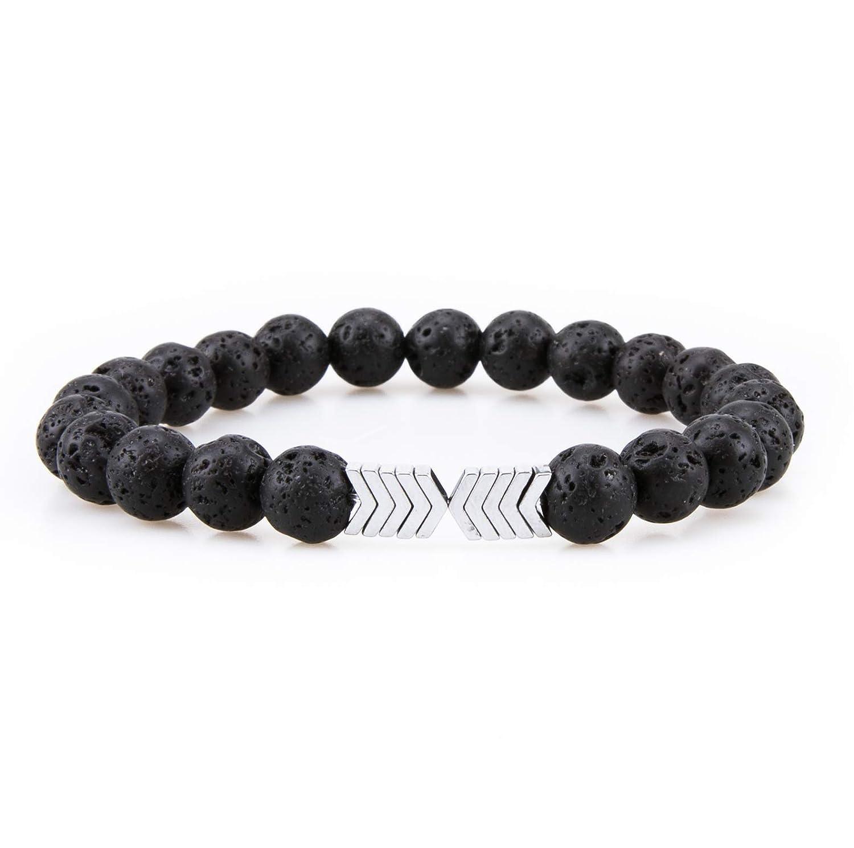 Bivei Essential Oil Diffuser Bracelet, Lava Rock Stone Bead Hametite Therapy Arrow Bracelet anbivi11122052