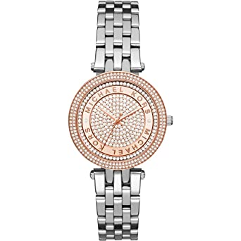 29501f41e138 Image Unavailable. Image not available for. Color  Michael Kors Women s  Mini Darci Silver-Tone Watch MK3446