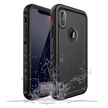 Gelink Funda Impermeable iPhone XR, Waterproof IP68 Carcasa Resistente al Agua con Protector de Pantalla Incorporado para Apple iPhone XR (Negro)