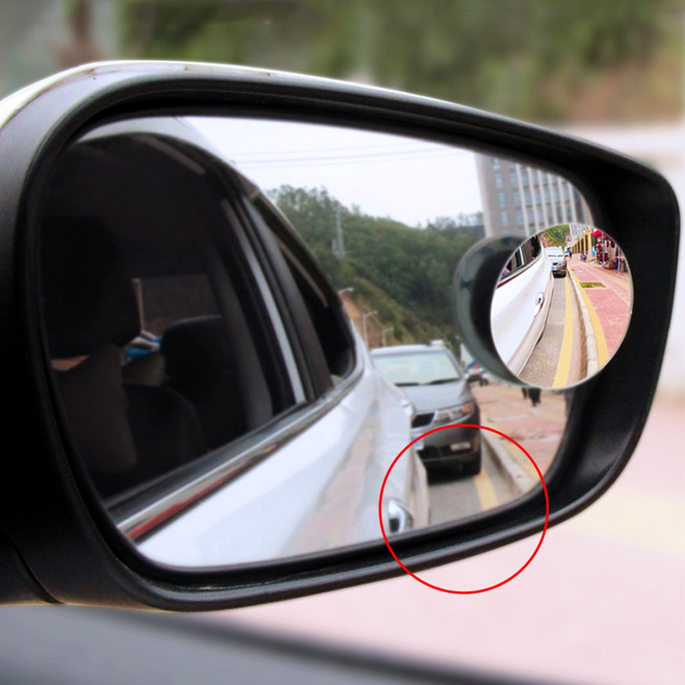 C/&Plan Wide Angle Convex Car Vehicle Blind Spot Mirror 360/° Rotatable Rear-View Add-on Mirror suit for New Driver