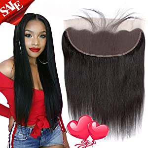 100% Unprocessed Brazilian Virgin Human Hair Ear to Ear Lace Frontal Remy Silky Straight Human Hair Lace Frontal (18 Inch 13x4 frontal)
