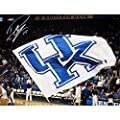 DeMarcus Cousins Signed University of Kentucky Flag at Rupp Arena 8x10 Photo (#708626)