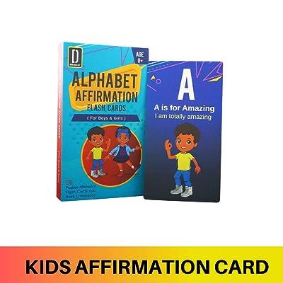 Darlyng & Co.'s Modern Alphabet Affirmation Flash Cards for Kids ABC Flash Cards (ABC Affirmation Flash Card for Boys & Girls): Toys & Games