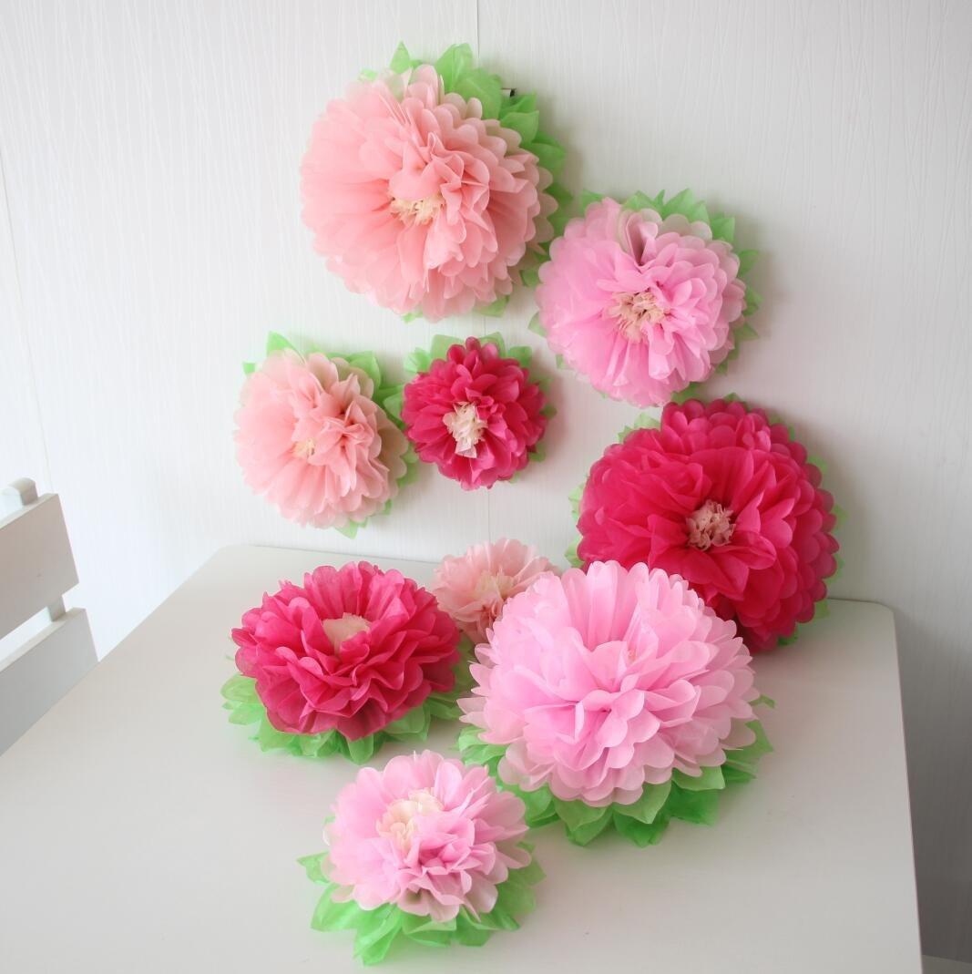 Amazon Mybbshower Pink Wedding Paper Flower Backdrop Birthday