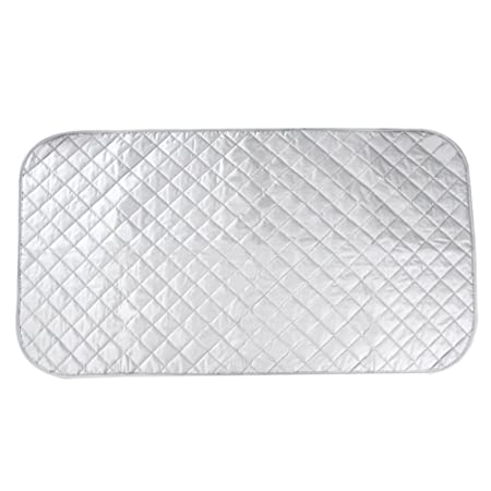 HOGAR AMO Portable Ironing Mat Ironing Board Pad Heat Resistant Coating Ironing  Pad Cotton For