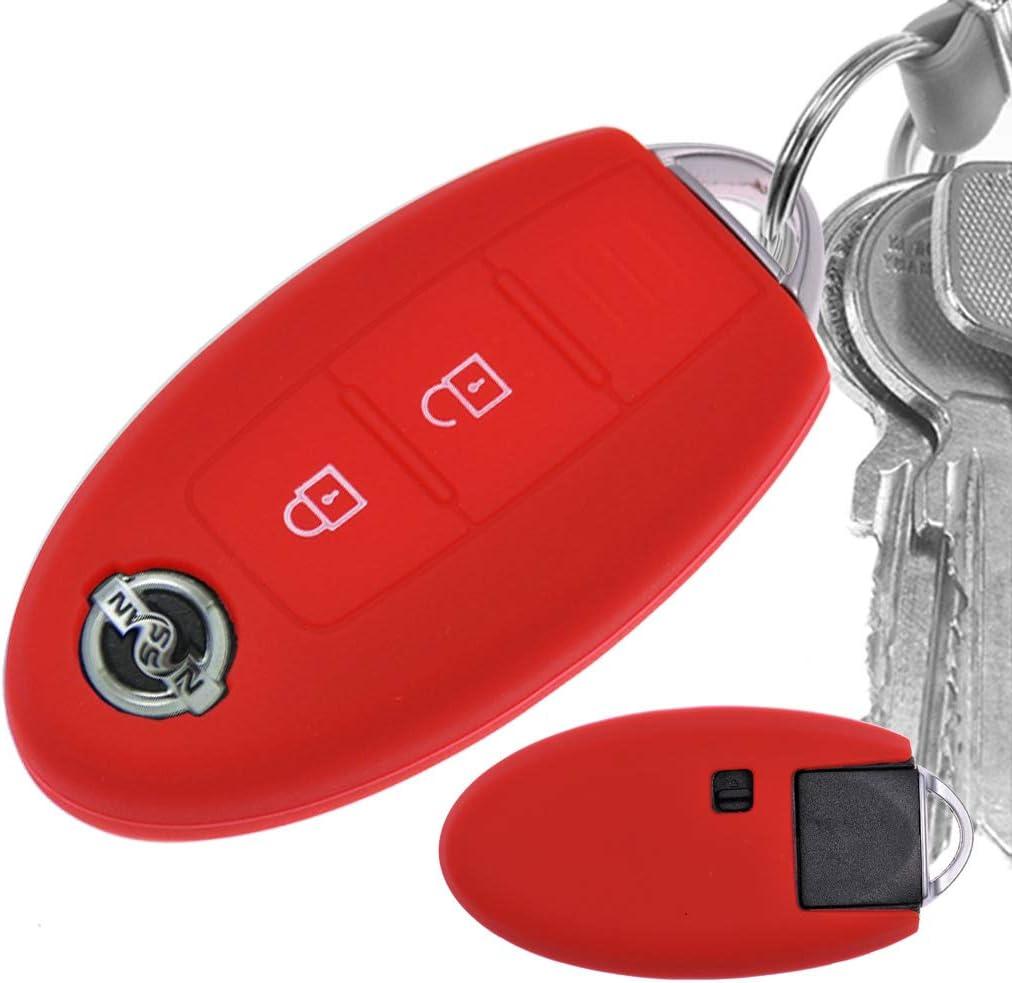 Auto Schlüssel Hülle Silikon Schutz Cover Rot Für Elektronik