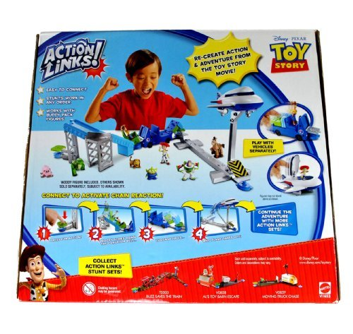 Mattel Year 2010 Disney Pixar Movie Series Toy Story 2 Inch Tall Action Figure Playset – AIRPORT ADVENTURE with 3