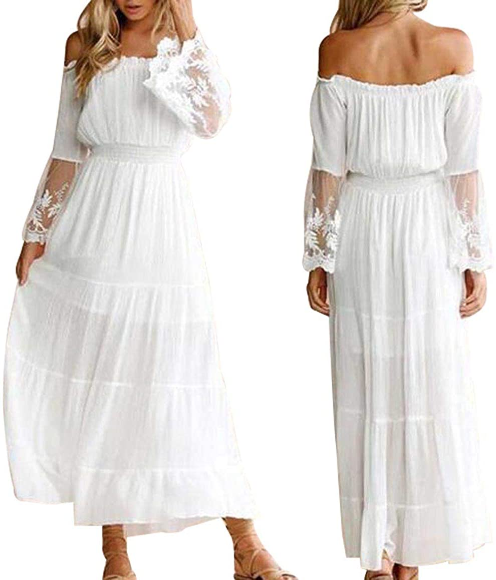 Womens Long Sleeveless Flowy Bridesmaid Cocktail Evening Gown Party Maxi Dress