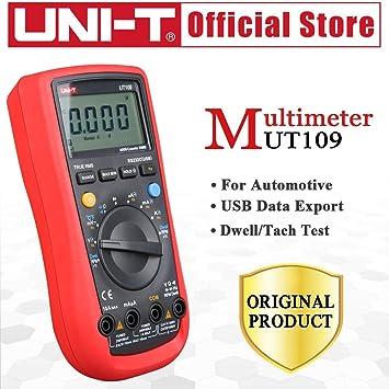 UT109 Automotive digital multimeter 4000 counts TACH DWELL RS-232 MAX//MIN RPM