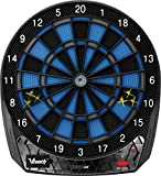Viper Vtooth 1000 Ex Electronic Dartboard, App Based Scoring, Blue Black and Silver Segments, Compact Size for Ease of Use, Battery Operated, Segment Locking Holes for Fewer Bounce Outs, 16+ Games