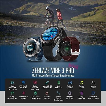Amazon.com: Zeblaze Vibe 3 HR Smartwatch, IP67 Waterproof ...