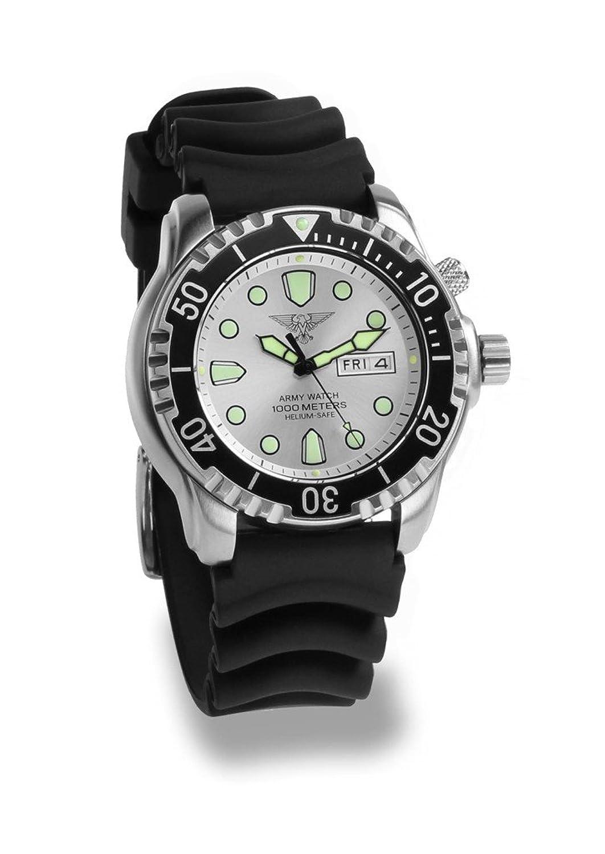 Army Watch Taucheruhr EP847 - Herrenarmbanduhr Silber