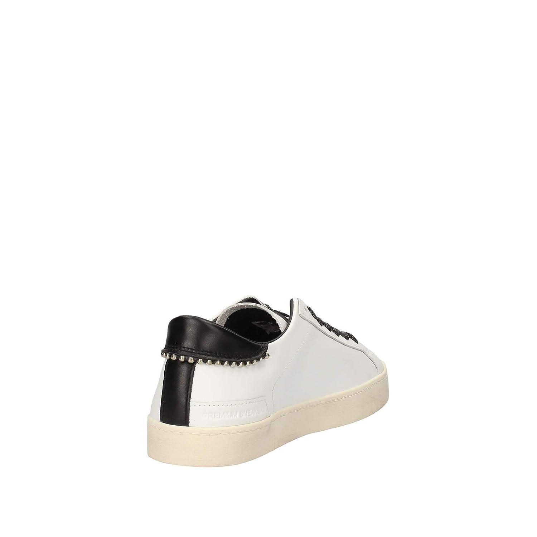 D.A.T.E. Date Sneakers Donna Hill Hill Hill Low Calf White Pearls 5e20e5