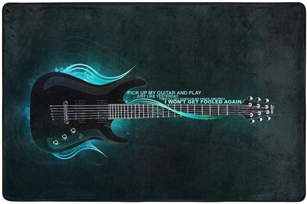 Felpudo Levante mi Guitarra y alfombras de área Alfombrilla de ...