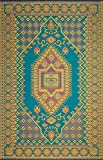 Mad Mats Oriental Turkish Indoor/Outdoor Floor Mat, 6 by 9-Feet, Aqua