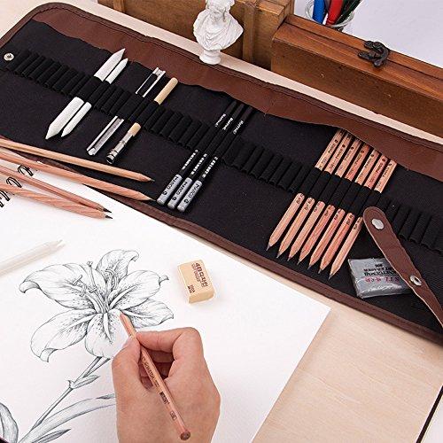 KOBWA Professional Sketch Drawing Kit for Kids Adults Artists