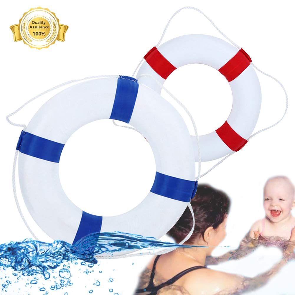 Lshylock Swim Foam Ring,Buoy Swimming Pool Safety Life Preserver with Perimeter Parent-Child Swim Ring Child red/Adult Blue by Lshylock