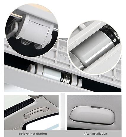 0e97ea9c923 Amazon.com  AnyCar Glasses Storage Box for Car BMW Sunglasses Holder Case  Storage Box Eye Glasses Box Case (Beige White)  Automotive