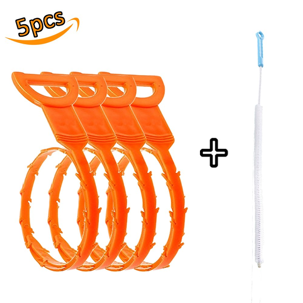 Hair Drain Clog Remover Drain Snake Auger Type Clean Tool Bathub Plumbing Cleaning Hook, Drain Cleaning Brush Included Paul Harden