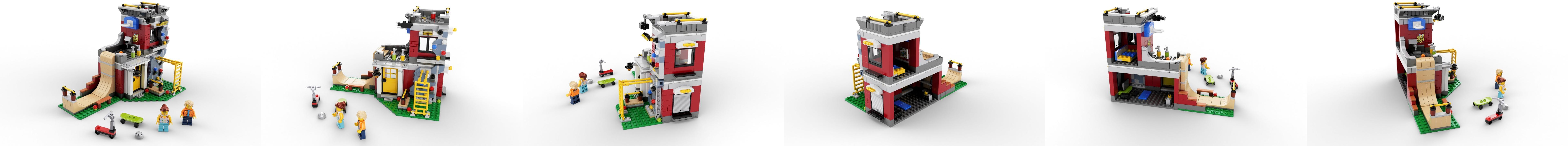 LEGO 3en1 creador Kit Modular patín casa 31081 Edificio (422 Piezas)