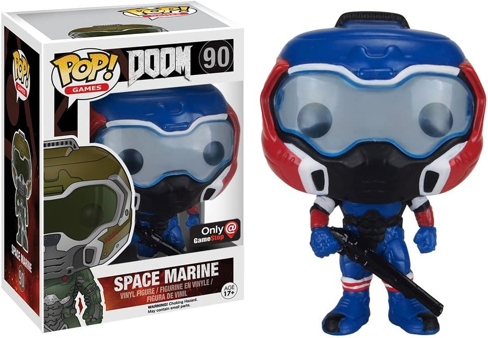 Funko Pop! Games Doom American Hero Space Marine #90 (Exclusive ...