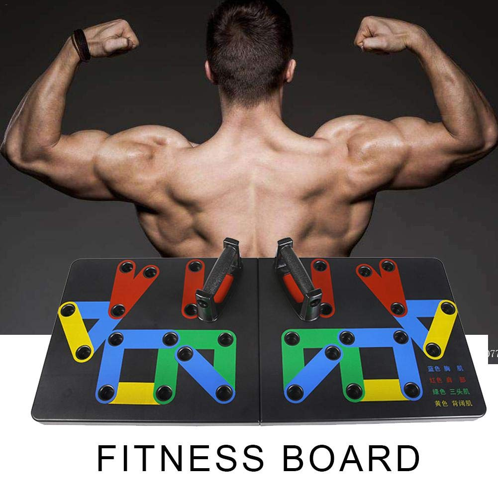 Push up Board, Plate, Stands, Support Board Bracket,Complete Push Up Training System,Strength & Conditioning, Fitness Workout Gym Home Exercise
