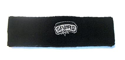 Amazon.com   NBA San Antonio Spurs Black Team Logo Headband ... eb2967d61f1
