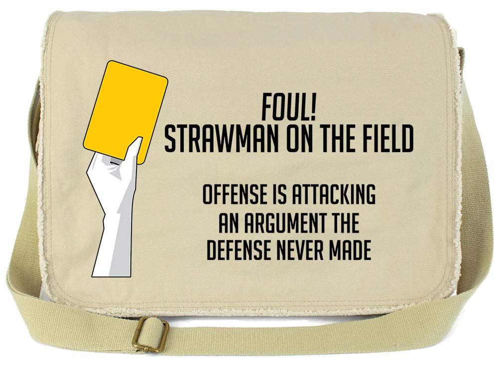 Tenacitee Strawman Logical Fallacy Royal Blue Brushed Canvas Messenger Bag