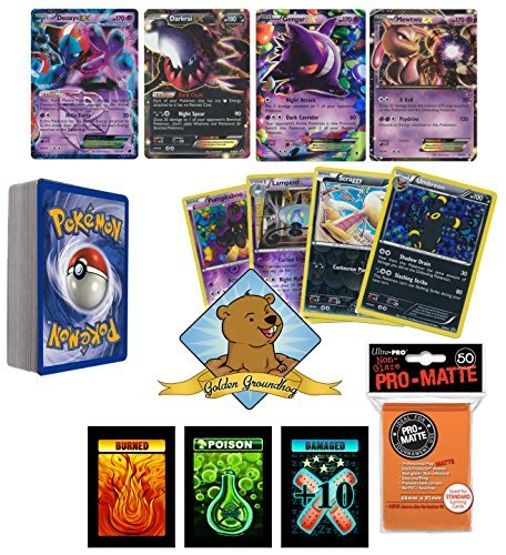 Pokemon 30 Card Spookymon Halloween Trick or Treat Grab Bag Includes Pack of Orange Sleeves and Custom Golden Groundhog Box (Pokemon Trick Or Treat)